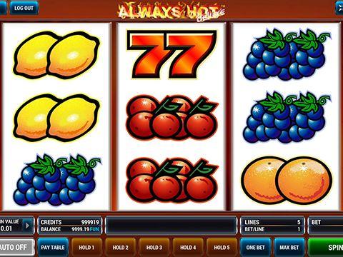 Always Hot Deluxe joc de pacanele clasic cu septari